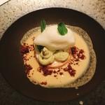 イル プロフーモ - ピスタチオのムース、アーモンドミルクのソース