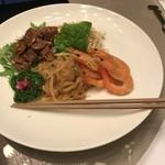 Juukeihanten - 四種前菜の盛り合わせ