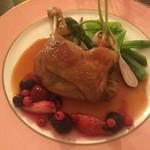 ガレット エ ポムポム  - 鴨肉のコンフィ