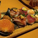 71096721 - 七色てまり寿司七種盛り合わせ