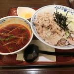 そば酒房 笹陣 - 肉そばつけ麺980円