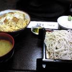 本門寺そば 千歳屋 - ミニかつ丼とミニうどんのセット