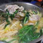 に志べ食堂 - キムチ鍋の豚肉