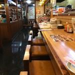 酔虎伝 - 昭和の雰囲気が漂う店内…そしてカウンター席