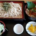 レストラン汐菜 - ざるそば+ミニいくら丼