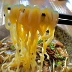 ラーメン サンゲン屋 - 背脂味噌ホルモンの麺