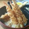 三春 - 料理写真:えび穴子天丼