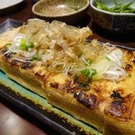 せきとり - 栃尾の油揚げ焼き450円