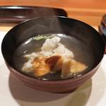 新ばし 星野 - 松茸、鱧土鍋仕立てのお椀