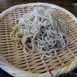 71106340 - 【2017.8.6(日)】手挽き二八そば(並盛)1,000円の麺