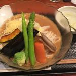 71107043 - 旬野菜カレー冷やしうどん  1,350円