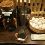 阿久根 魚鈎 - 生玉子と黒糖醤油