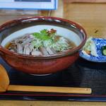 そば処 本丸東 - 冷たい肉そば(豚編)