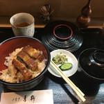 青柳 - うなぎ丼¥1,300-(税抜き)お吸い物あり〼