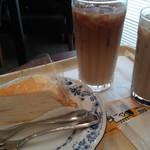 ドトールコーヒーショップ 上板橋南口店 - ミルクレープ、カフェラテ、黒糖ラテ