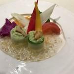 旅館 華水 - 料理写真:アスパラのムースと冷製野菜サラダ