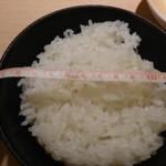 71111966 - 比内地鶏卵加計ご飯594円 茶碗の直径13cm