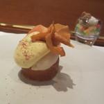 レストラン マノワ - 山梨県・一宮町ももの瞬間コンポートとマノワのシャンパーニュのムース