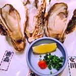 かき鮮 海風土 - 生かき食べ比べ3P(志津川、女川、唐桑)です。
