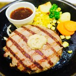 武蔵ハンバーグ - 肉塊ハンバーグ
