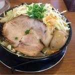 麺屋ばやし - 味噌らーめん 大盛り 野菜マシ×2 味玉