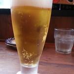 イタリアンバルパステル - 生ビールはスーパードライのピルスナー380円