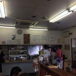 71127259 - 注文口 やくみ おでん 天ぷら 寿司おにぎり〜レジ                         上にメニュー