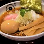 麺処 蛇の目屋 - 鶏煮干しそば、半熟味玉=900円