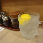 餃子酒場 たっちゃん - 檸檬フィズ