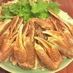 笹寿司 - 活けズワイ蟹鍋