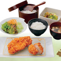 浜勝 - 国産ハーブ豚のロースとひれかつ膳