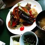 ひたちなか温泉 喜楽里別邸 - サーモンと野菜黒酢あんかけ定食