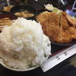 古都 - ミックスカツ定食(普通盛)