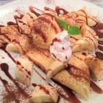 ブルーボーダーカフェ - チョコバナナクレープ