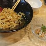 福島壱麺 - 鯖背脂絞り混ぜそば-梅水晶増し