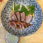 福島壱麺 - 鰹藁焼き塩叩き