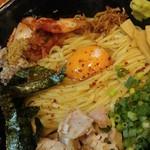 福島壱麺 - 鯖背脂絞り混ぜそば