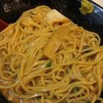 福島壱麺 - 鯖背脂絞り混ぜそば-混ぜ後