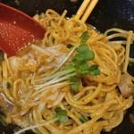 福島壱麺 - 鯖背脂絞り混ぜそば-梅水晶追加発注