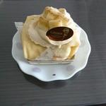 71136626 - キャラメルバナナのクレープケーキ