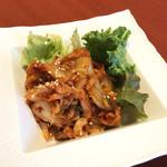 『千住の海老料理専門店』Shrimp Dining EBIZO 北千住 - ピリ辛エビキムチ(税別480円)