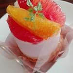 パティスリー シュクレ - ピンクグレープフルーツのケーキ
