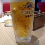 太陽のトマト麺 - 生ビール