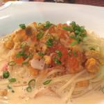71139594 - 北海道産生ウニとイクラを使った濃厚クリームスパゲッティ