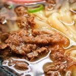 葉隠うどん - 肉ごぼう(肉)