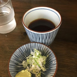 そば酒房 福島 - 薬味とつゆ