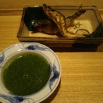 71149050 - 琵琶湖の鮎塩焼、蓼酢