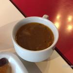 Sakurakafeandoresutoranikebukuro - お代わり自由のスープ。