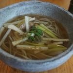 蕎麦 ふくあかり - 丹波鶏の山椒そば・温・小 (松花御膳の選べる蕎麦より)