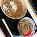 紫波サービスエリア 上り スナックコーナー - 料理写真:カレーうどんミニ牛丼セット